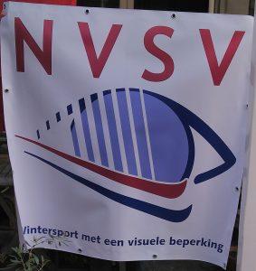 Spandoek met het NVSV logo