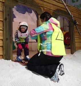 Skiën kun je ook als je heel klein bent