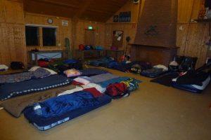 Jongerenweekend slaapzaal
