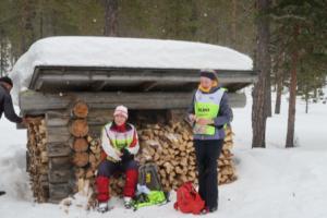 Pauze bij een hutje, Rauhala, Finland