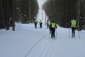 Langlaufen in Rauhala, Finland
