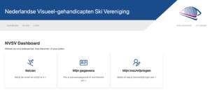 NVSV ledensite startpagina