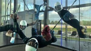 Skydiven in een windtunnel
